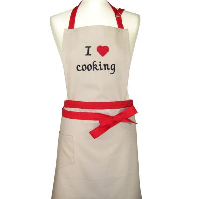 "Prijuostė ""I love cooking"""