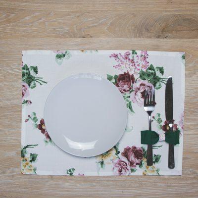 Stalo padėkliukas su gelėmis