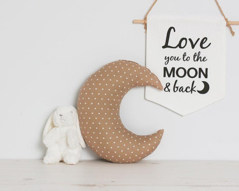 Pagalvė rudas taškuotas mėnulis